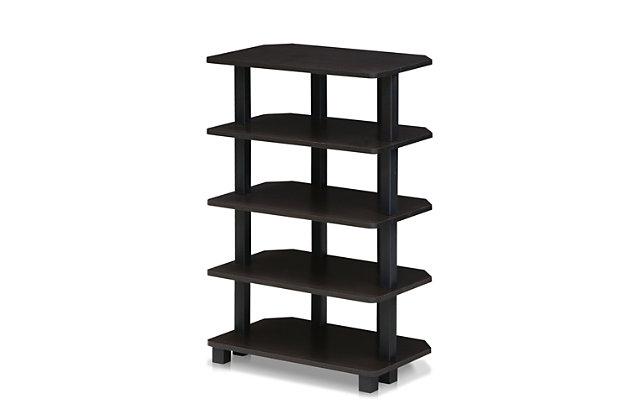 Five Shelf Corner Home Office Bookcase, , large