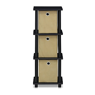 Three Shelf Home Office Bookcase with Bins, , rollover