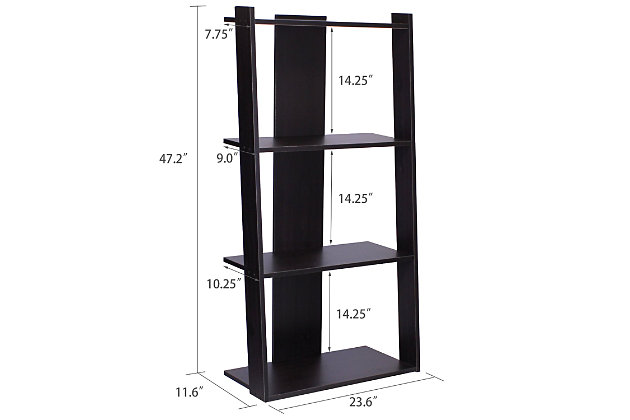 """Ladder 47"""" Home Office Bookcase, , large"""