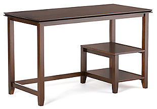 Open Shelf Computer Desk, , large