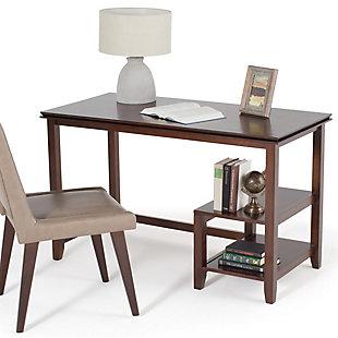 Open Shelf Computer Desk, , large
