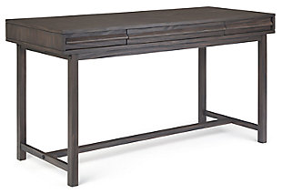 Two Drawer Desk with Keyboard Tray, , large