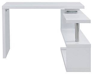 Multipurpose Desk with Storage Shelves, , large