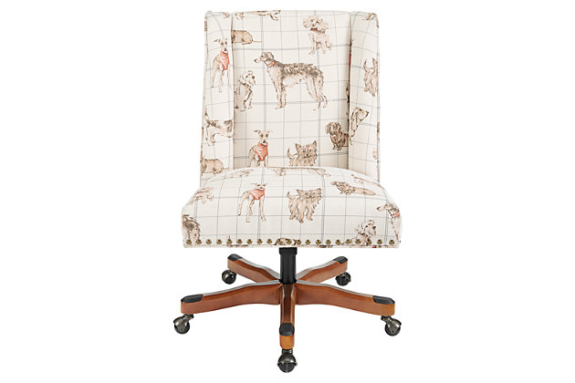 Draper Dog Print Office Chair, , large