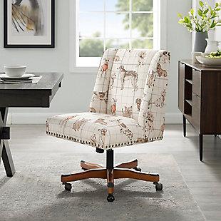 Draper Dog Print Office Chair, Beige, rollover