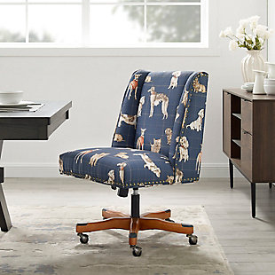 Draper Dog Print Office Chair, , rollover