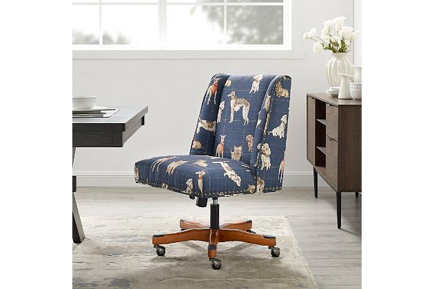 Draper Dog Print Office Chair, , large