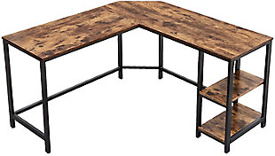 Vasagle Industrial L-Shaped Computer Desk, , large