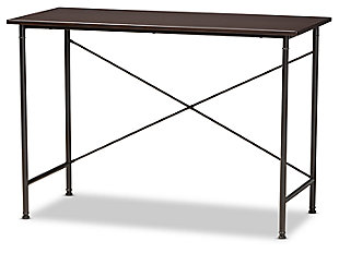 Baxton Studio Tavin Industrial Criss-Cross Desk, , large