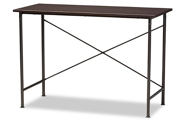 Baxton Studio Tavin Industrial Criss-Cross Desk, , large
