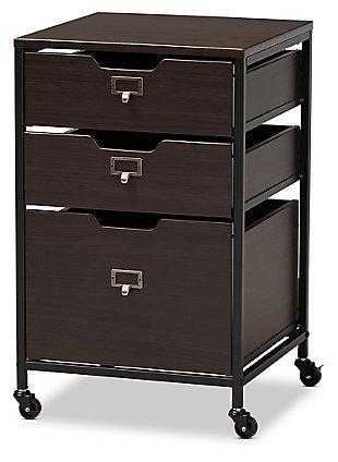 Baxton Studio Felix Metal 3-Drawer File Cabinet, , large