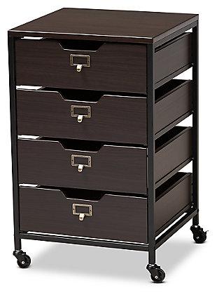 Baxton Studio Felix Metal 4-Drawer File Cabinet, , large