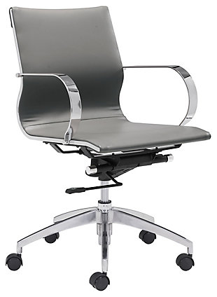 Zuo Modern Glider Low Back Office Chair, , large