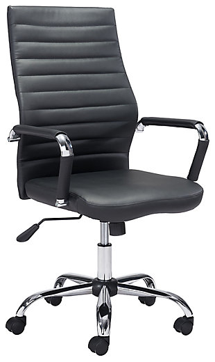 Zuo Modern Primero Office Chair, Black, large