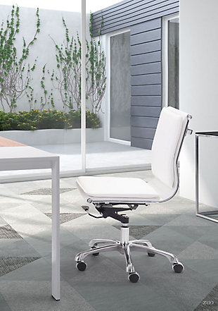 Zuo Modern Lider Plus Armless Office Chair, , rollover