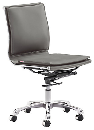 Zuo Modern Lider Plus Armless Office Chair, , large