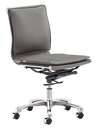 Zuo Modern Lider Plus Armless Office Chair, , rollover