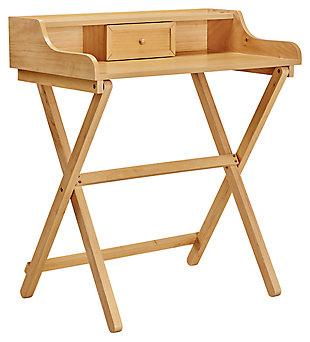 Linon Monroe Walnut Folding Desk, , large