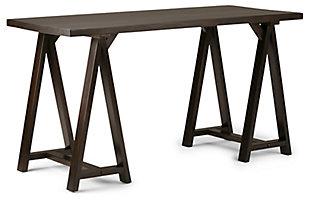 "Simpli Home Sawhorse Industrial 56"" Writing Desk, , large"