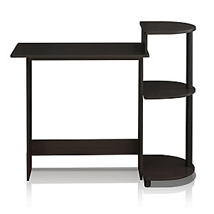 Compact Computer Desk with Shelves, , rollover