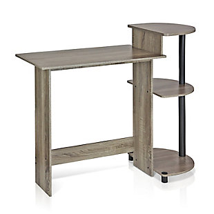 Compact Computer Desk with Shelves, , large