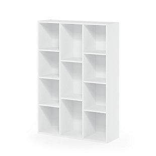 11-Cube Reversible Open Shelf Bookcase, , rollover