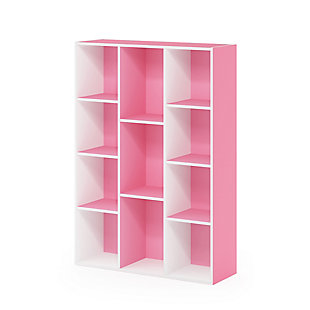 11-Cube Reversible Open Shelf Bookcase, , large