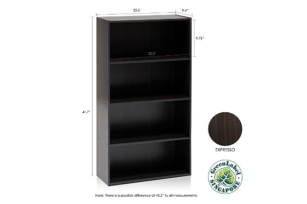 Pasir 4-Tier Open Shelf, , large