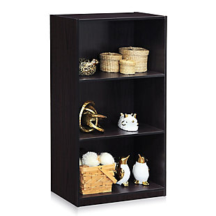 Basic 3-Tier Bookcase Storage Shelves, , large