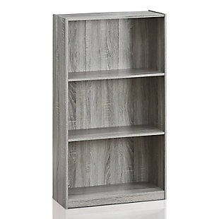 Basic 3-Tier Bookcase Storage Shelves, , rollover