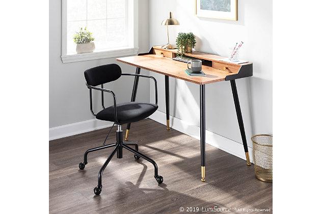 LumiSource Harvey Desk, , large
