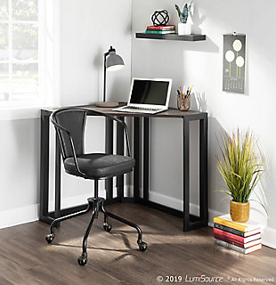 LumiSource Roman Corner Desk, , rollover