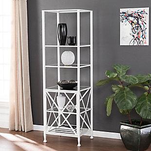 Southern Enterprises Santanna Tall X-Frame Bookcase/Etagere, , rollover