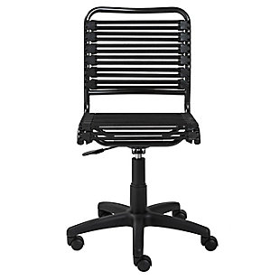 Euro Style Allison Bungie Flat Low Back Office Chair, , rollover