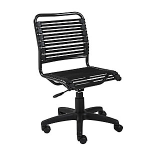 Euro Style Allison Bungie Flat Low Back Office Chair, , large