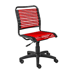 Euro Style Allison Bungie Low Back Office Chair, , large