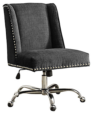 Linon Draper Office Chair, , rollover