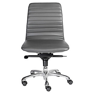 Euro Style Everett Armless Low Back Office Chair, , rollover
