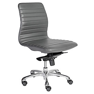 Euro Style Everett Armless Low Back Office Chair, , large