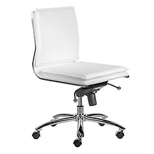 Euro Style Gunar Pro Low Back Armless Office Chair, , large