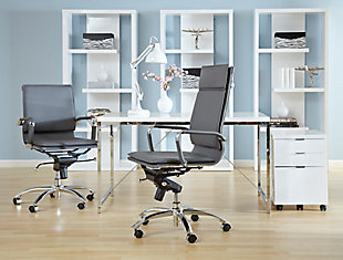 Euro Style Gunar Pro High Back Office Chair, , rollover