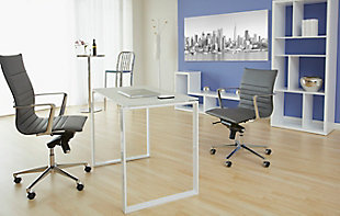 Euro Style Diego Desk, White, rollover