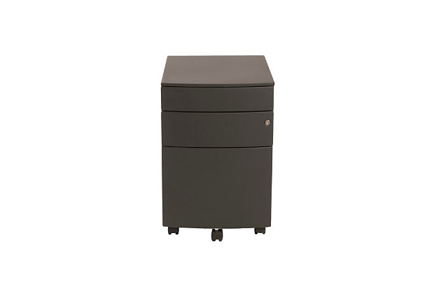 Euro Style Floyd 3 Drawer File Cabinet, , large