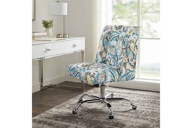 Draper Dog Print Office Chair, Blue, large