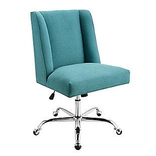 Linon Draper Upholstered Swivel Office Chair, , large