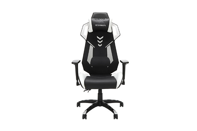 RESPAWN 200 Racing Style Gaming Chair, White/Black, large