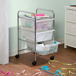 Honey-Can-Do 3-Drawer Rolling Storage Cart, , rollover