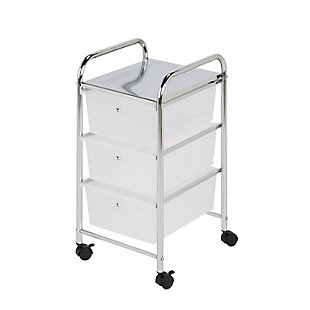 Honey-Can-Do 3-Drawer Rolling Storage Cart, , large