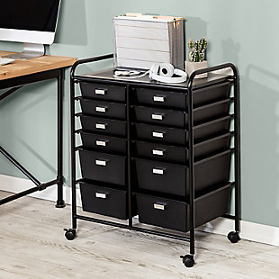 Honey-Can-Do 12-Drawer Rolling Storage & Craft Cart Organizer, , rollover