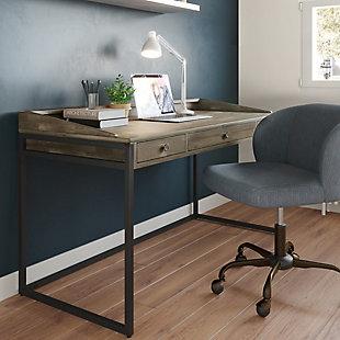 "Simpli Home Ralston Solid Acacia Wood Modern Industrial 60"" Writing Desk, , rollover"